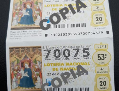 Tenemos disponible la lotería de Navidad