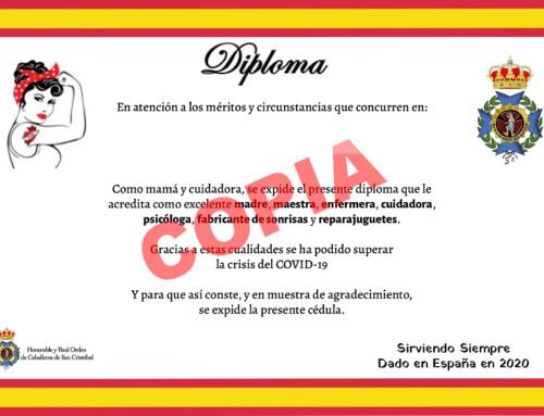 Diploma para las súper-mamás COVID-19